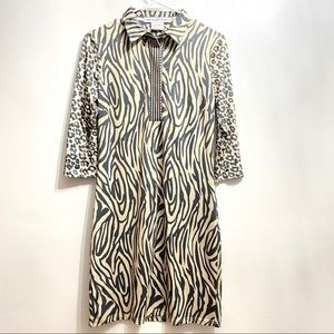 Gretchen Scott animal print zebra cheetah dress